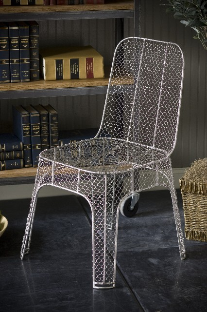 With Its Sleek Silhouette And Simple Chicken Wire ...