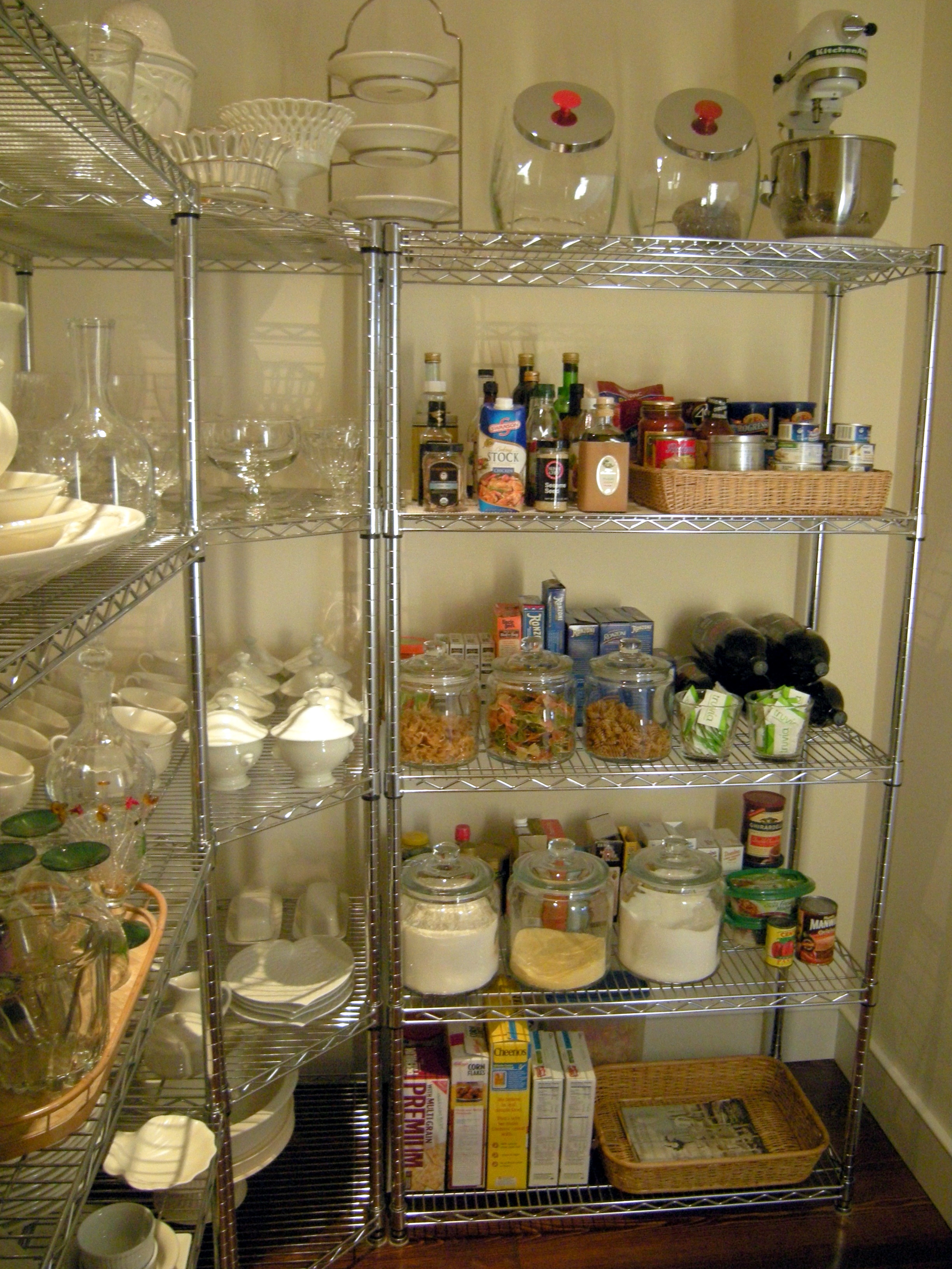 Ina Garten Pantry Pleasing With Rustic ShelvesPantry Picture