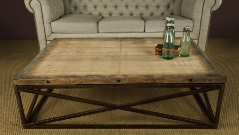 The Rustic Chic Bricklayer S Coffee Table Rustic Chic