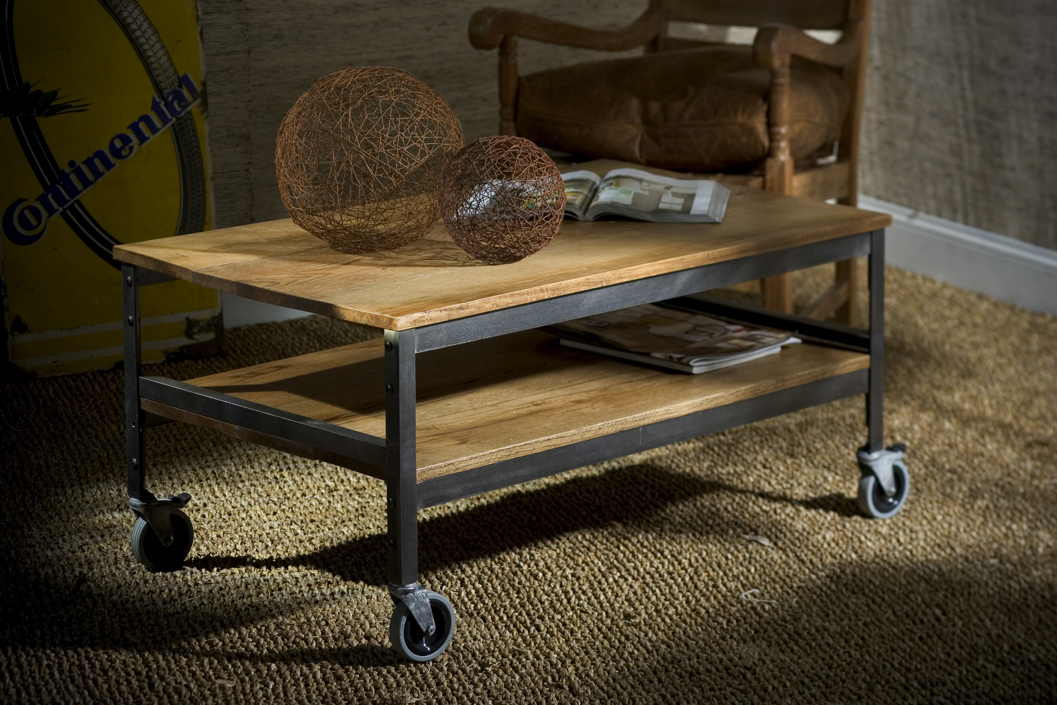 The Rustic Chic Bricklayer s Coffee Table