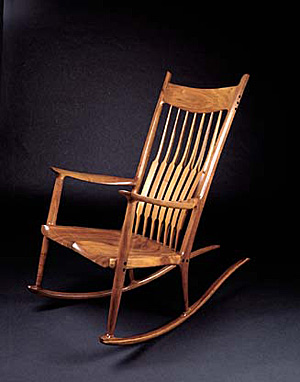 Sam Maloof S Rustic Chic Rocking Chairs Rustic Chic