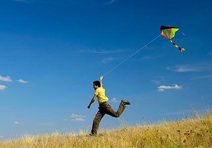 As it's a bit difficult to fly a kite and take a photo at the same time,