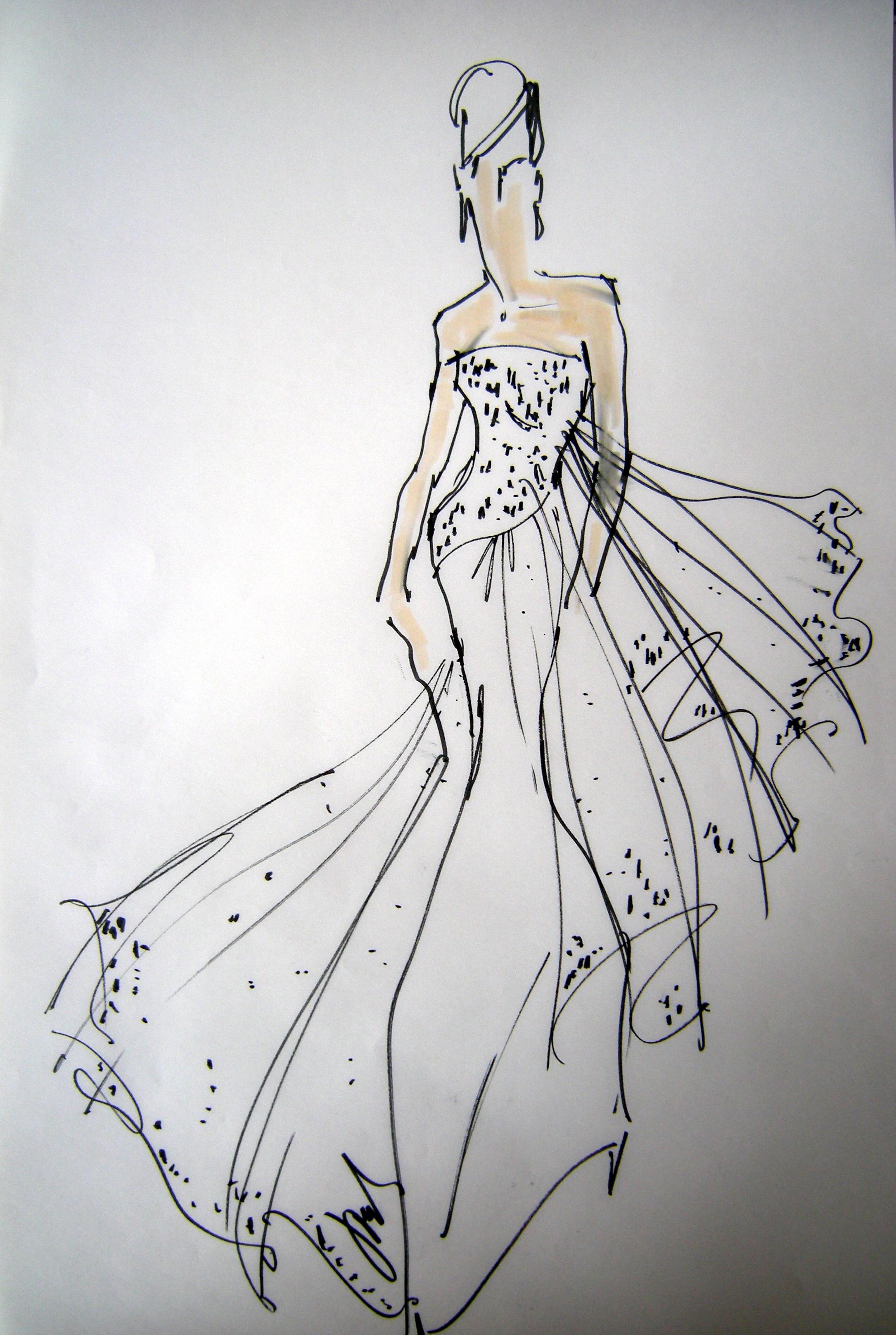 Fashion Sketches Rustic Chic