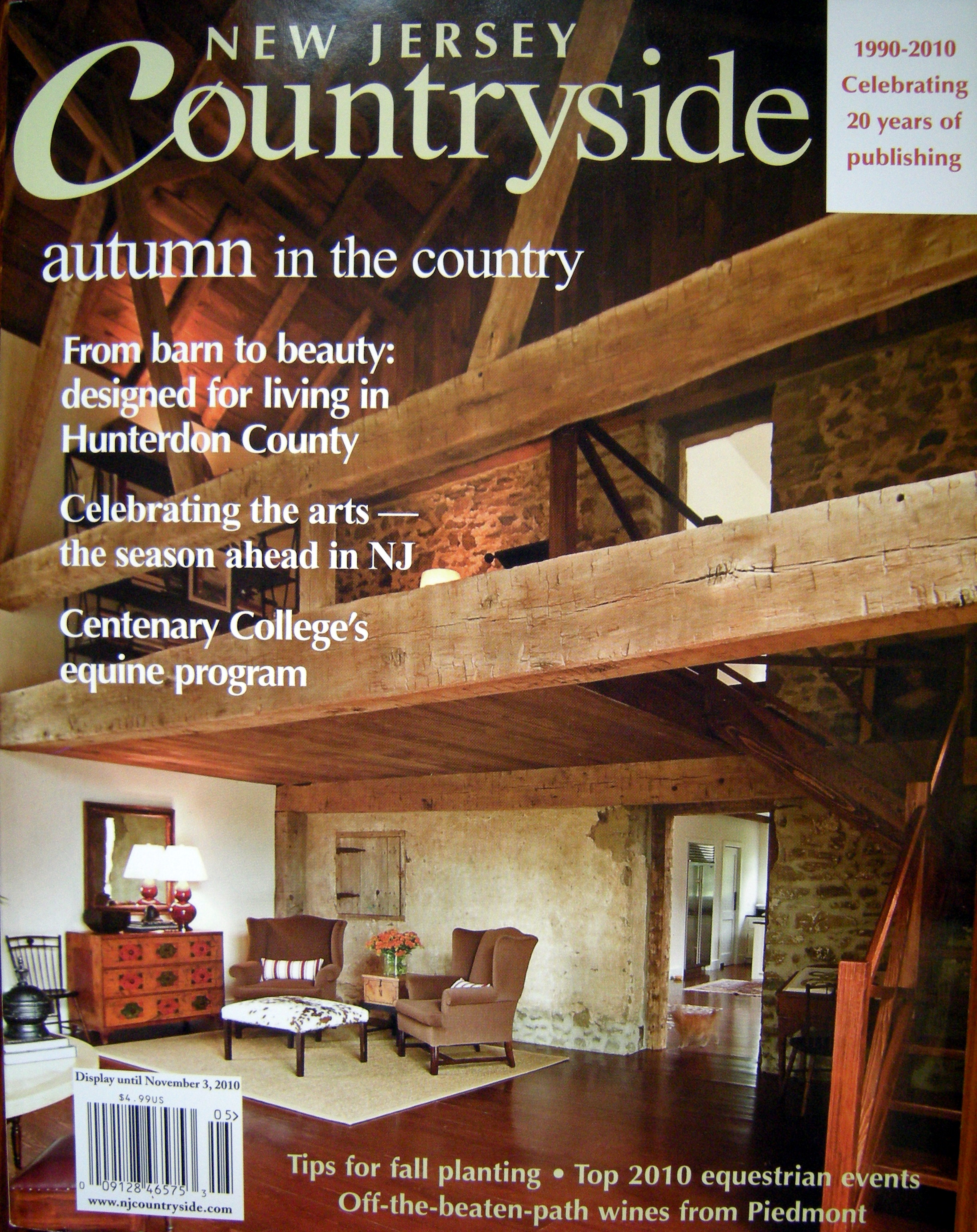 Many Thanks And All Our Appreciation To Allene Stanton Fay The Publisher Editor Of New Jersey Countryside Magazine On Selecting Barn As